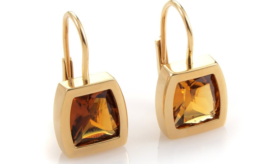 Cartier Cartier La Dona 18K Yellow Gold Orange Citrine Dangle Earrings