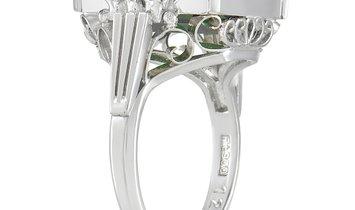 LB Exclusive LB Exclusive Platinum 0.09 ct Diamond And Tourmaline Ring