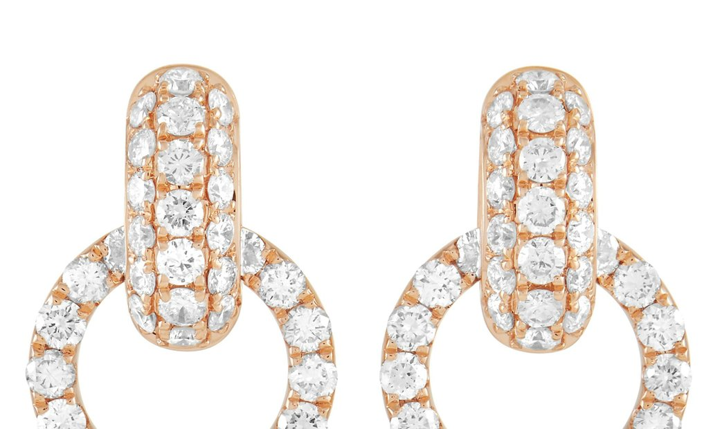 LB Exclusive LB Exclusive 18K Rose Gold 2.00 ct Diamond Earrings