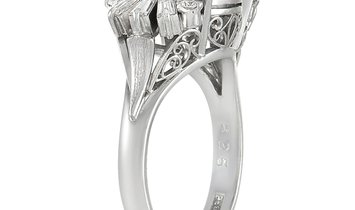 LB Exclusive LB Exclusive Platinum 0.36 ct Diamond And Star Sapphire Ring