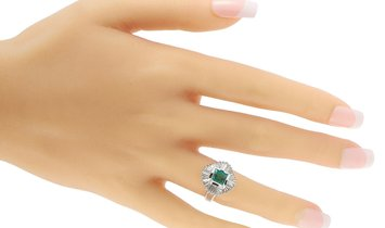 LB Exclusive LB Exclusive Platinum 1.38 ct Diamond and Emerald Ring