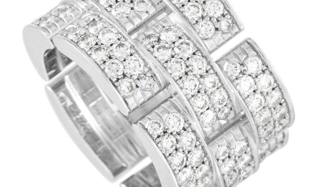 Cartier Cartier Maillon De Cartier 18K White Gold 4.00 ct Diamond Ring