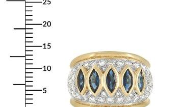 Harry Winston Harry Winston 18K Yellow Gold 1.50 ct Diamond and Sapphire Ring
