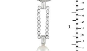 Tiffany & Co. Tiffany & Co. Platinum 1.30 ct Diamond and Pearl Pendant Necklace