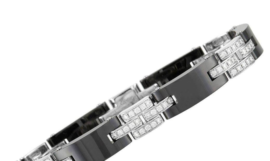 Cartier Cartier Maillon De Cartier 18K White Gold and Ceramic 1.68 ct Diamond Bracelet