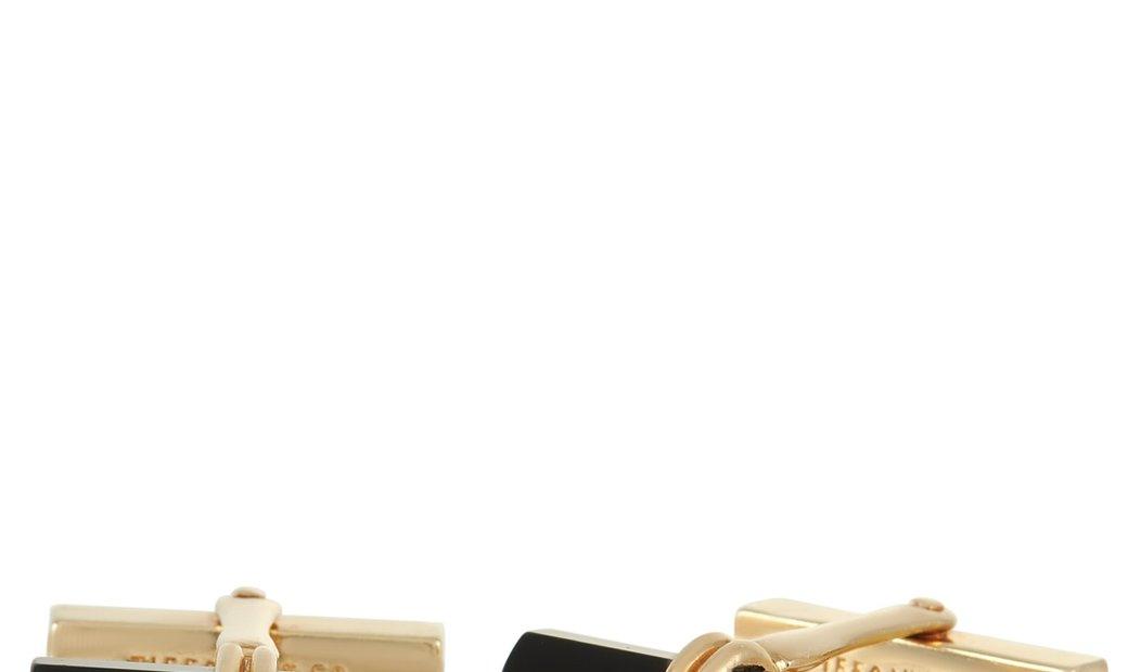 Tiffany & Co. Tiffany & Co.14K Yellow Gold Onyx Cufflinks