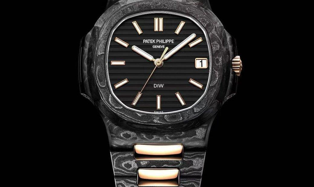 "Patek Philippe DiW NTPT Carbon Nautilus 5711 ""ROSE GOLD BLACK GRAIL"" (Retail:EUR 184990)"