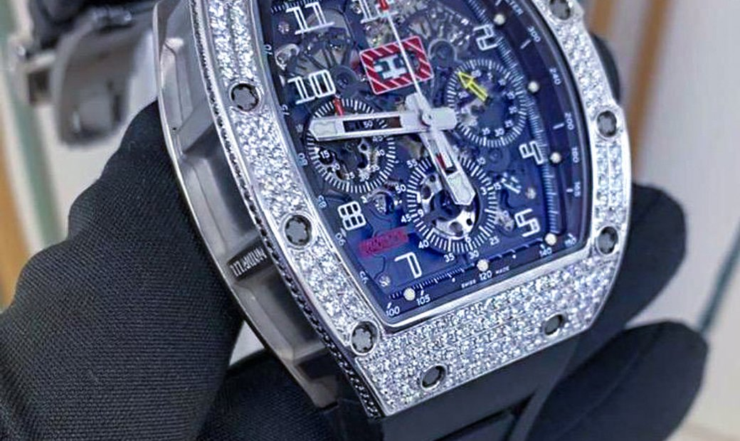 Richard Mille RM 11-03 White Gold Med Set Diamonds Watch