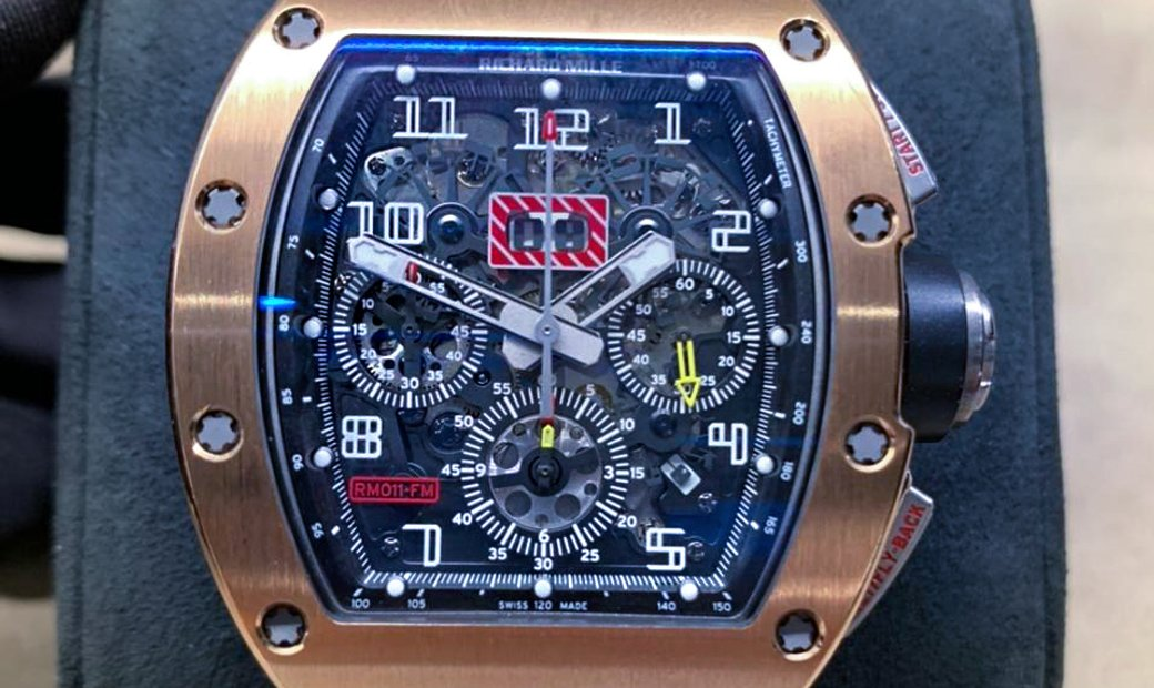 Richard Mille [2012 MINT] RM 011 Rose Gold Watch