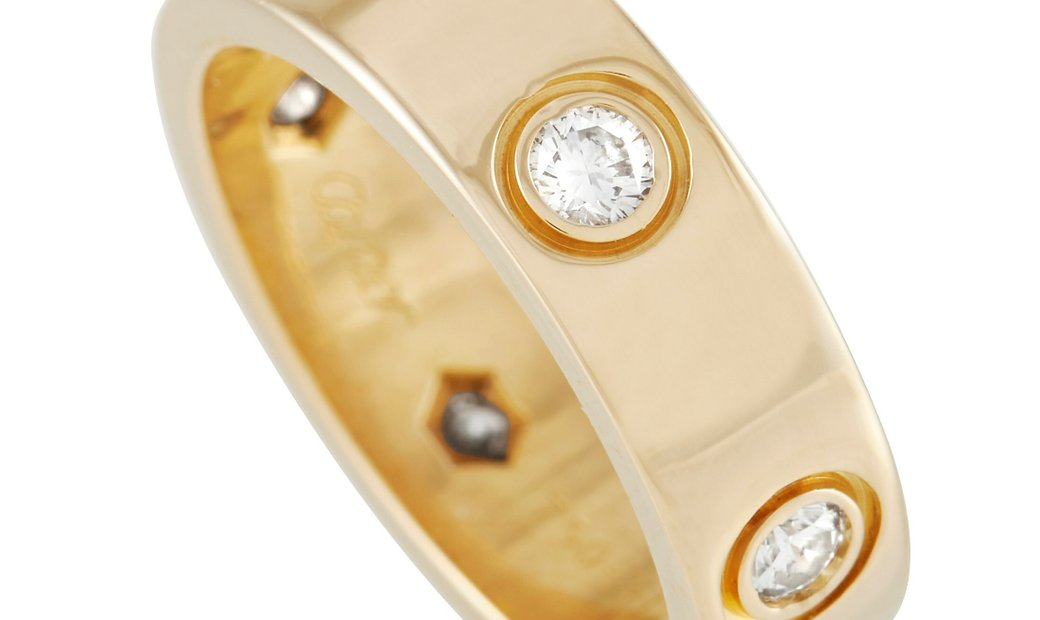 Cartier Cartier LOVE 18K Yellow Gold 6 Diamond Band Ring