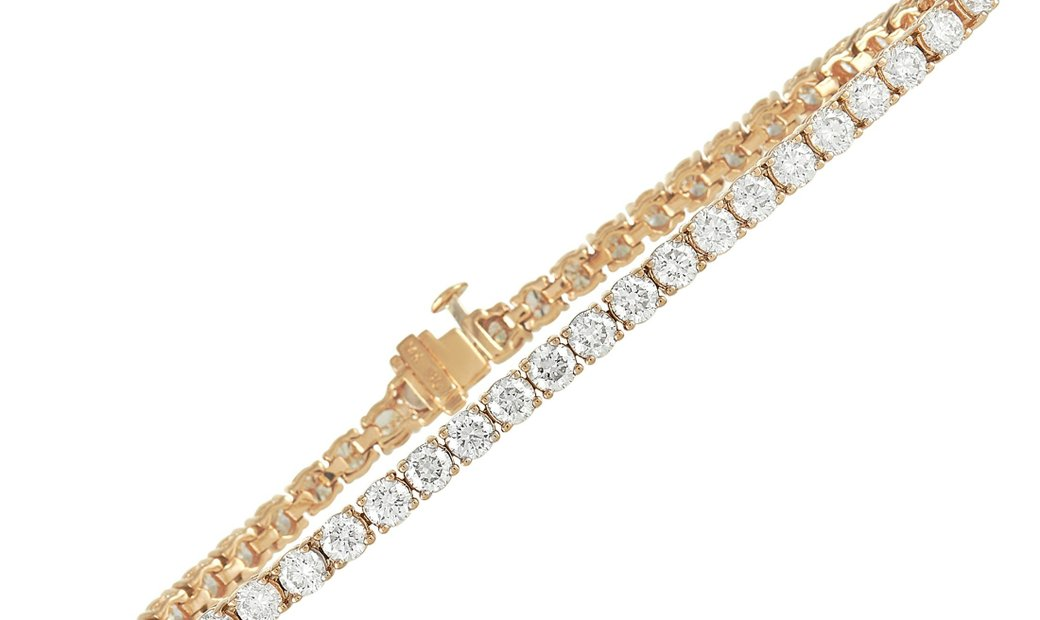 LB Exclusive LB Exclusive 14K Yellow  Gold 7.66 ct Diamond Tennis Bracelet