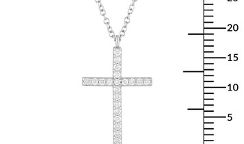Tiffany & Co. Tiffany & Co. Platinum Diamond Cross Pendant Necklace