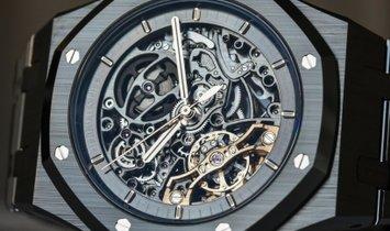 Audemars Piguet  Royal Oak Double Balance Wheel Open-worked Black Ceramic 15416CE.OO.1225CE.01