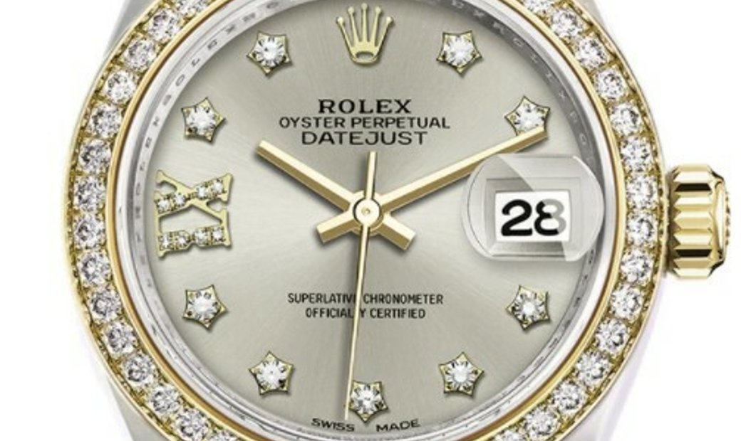 Rolex Oyster Perpetual Datejust 28 279383RBR Silver Diamond Star Dial