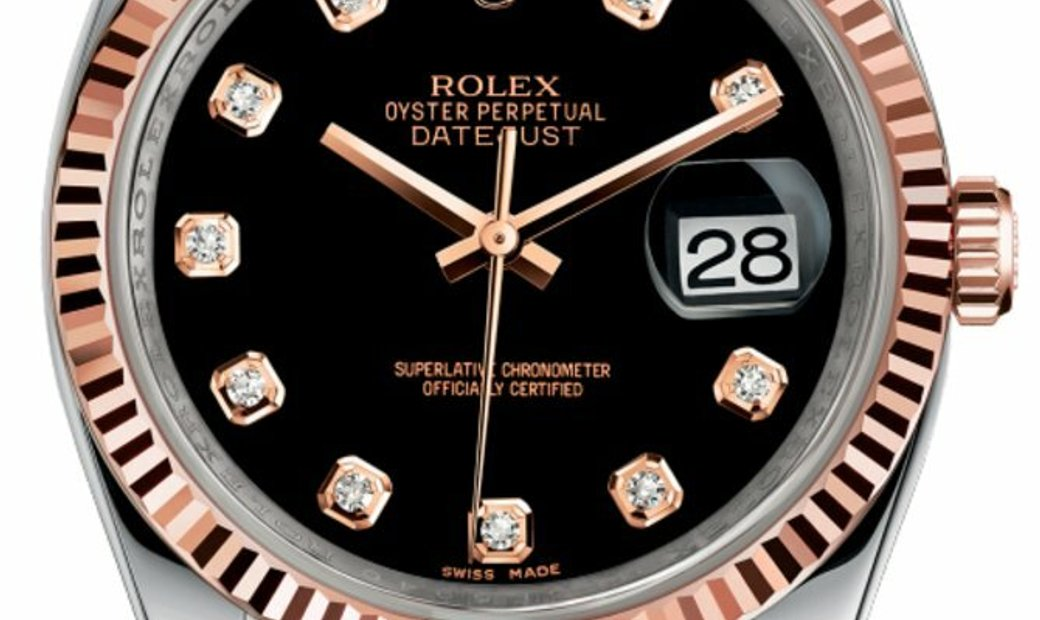 ROLEX OYSTER PERPETUAL DATEJUST 36MM 18KT ROSE GOLD & STAINLESS STEEL 126231 BKDJ