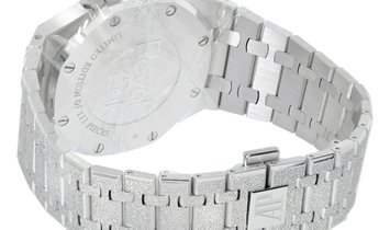 Audemars Piguet Royal Oak Limited Frosted White Gold Black Index Dial Watch 26331BC.GG.1224BC.03