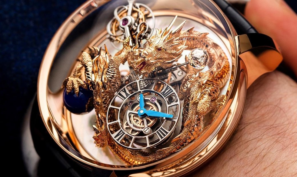 Jacob & Co. 捷克豹 [NEW] Astronomia Dragon Mother of Pearl AT102.40.DR.UE.A
