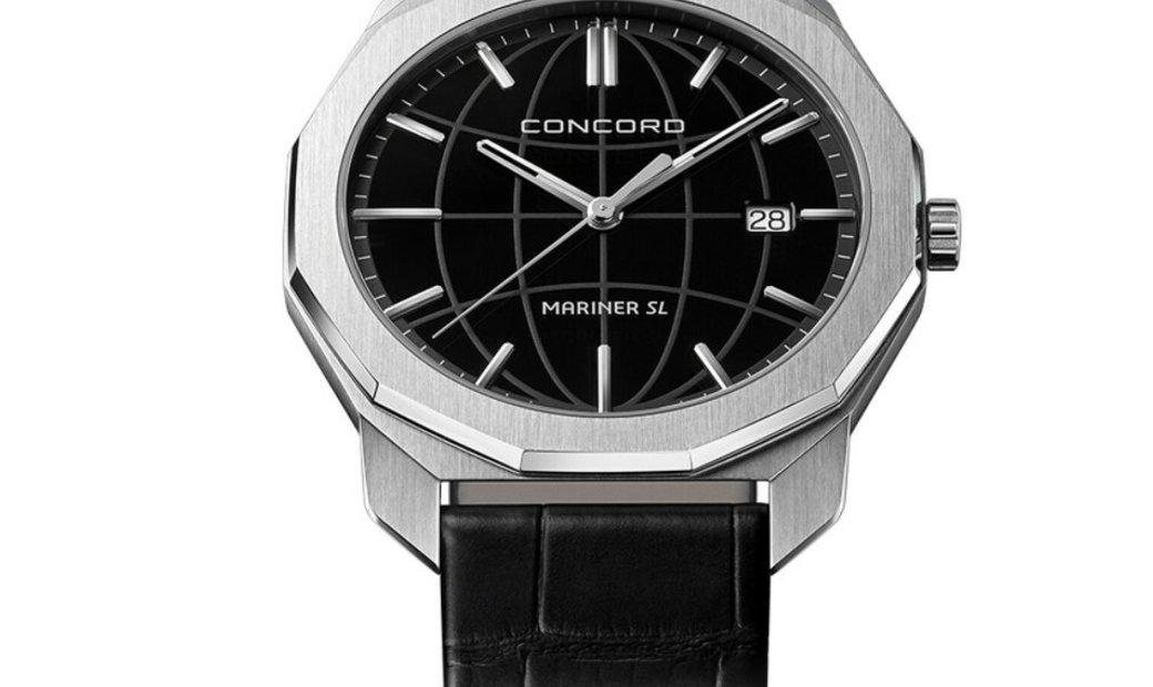 CONCORD MARINER SL QUARTZ STEEL BLACK GALVANIC DIAL 40MM 0320475