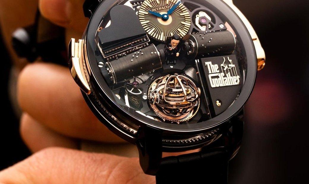Jacob & Co. 捷克豹 [NEW] Opera Godfather Musical Watch Titanium With Black Barrels