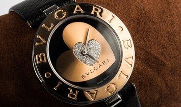 BVLGARI B.ZERO1 LADIES QUARTZ DOUBLE HEART DIAMOND DIAL 35MM BZ P 35 S
