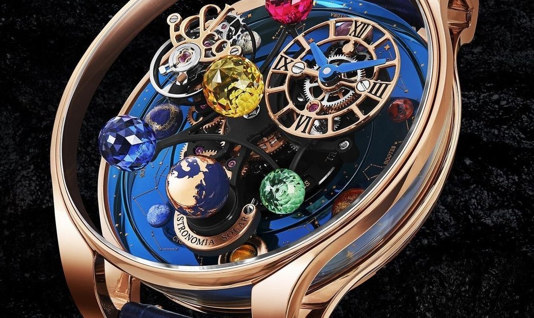 Jacob & Co. 捷克豹 [NEW] Astronomia Solar Constellations Planets and Yellow Stone AS300.40.AA.AB.A