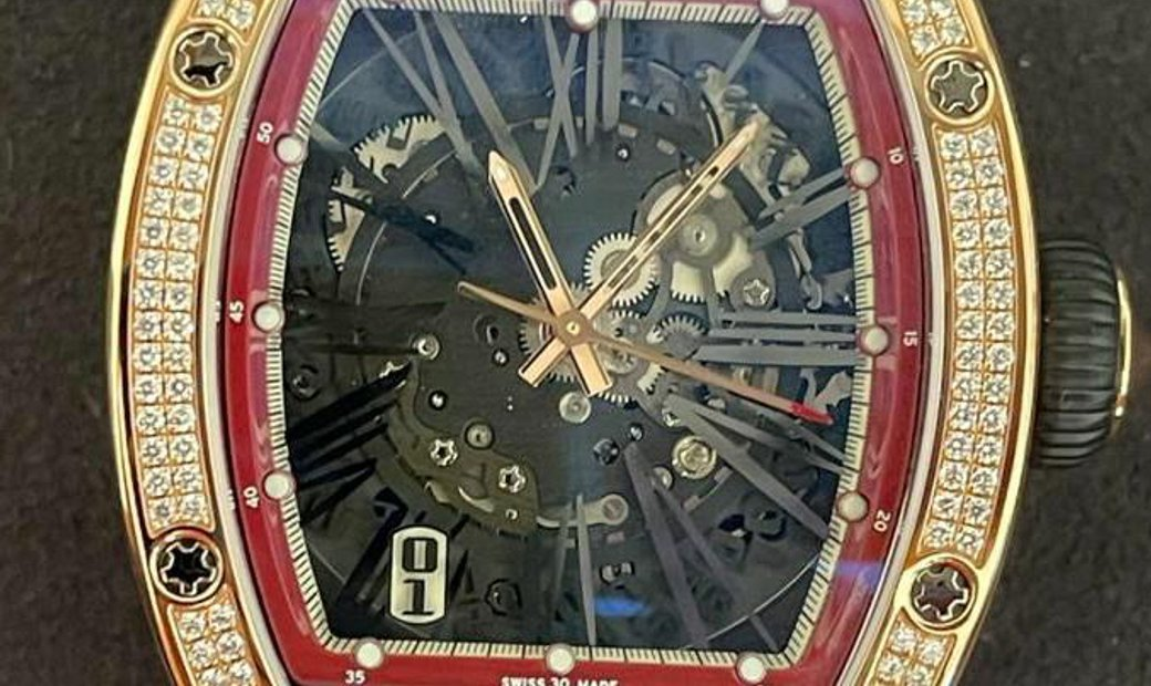 Richard Mille [NEW] RM 023 Rose Gold Full Set Diamonds Mens Watch