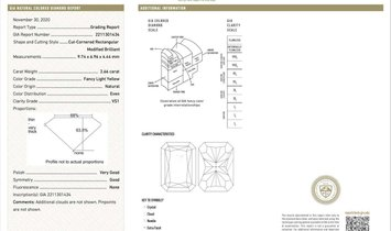 24.51 Carats Of GIA Certified Canary Yellow Diamond Earrings