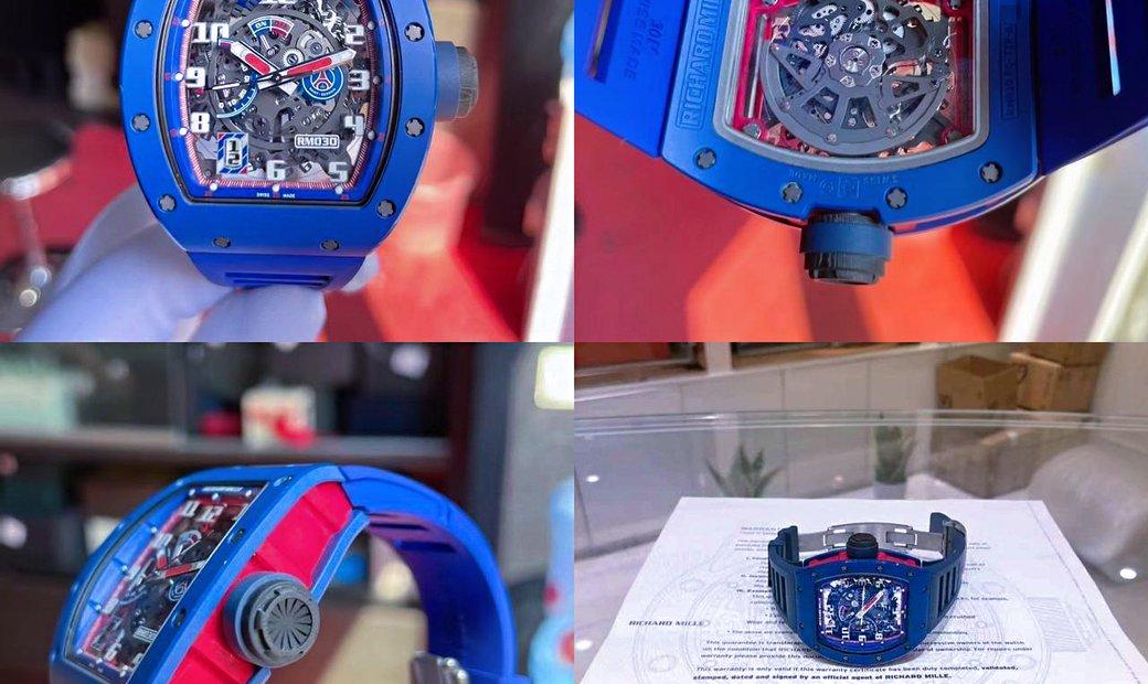 Richard Mille [2018 MINT] RM 030 PSG Blue Ceramic
