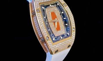 Richard Mille [2018 MINT] RM 07-01 Rose Gold Full Set Diamonds Watch