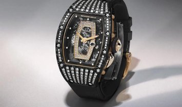 Richard Mille [NEW] RM 037 Rose Gold NTPT Carbon Med Set Diamonds