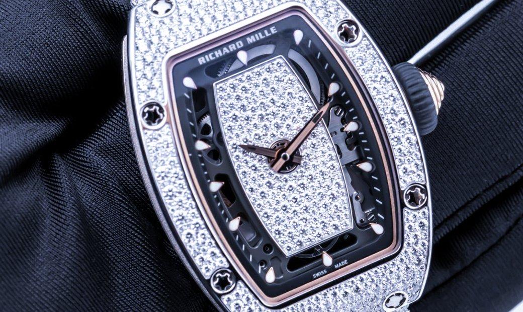 Richard Mille [NEW] RM 07-01 White Gold Snow Diamonds Bracelet