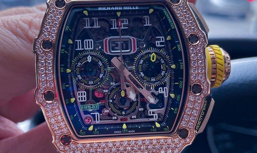 Richard Mille [NEW] RM 11-03 Rose Gold Full Set Diamonds Watch