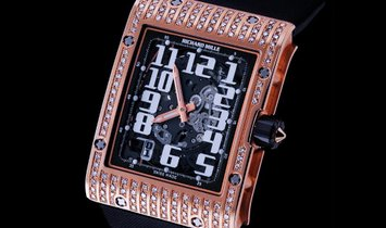 Richard Mille [NEW] RM 016 Extra Flat Rose Gold Diamonds Watch