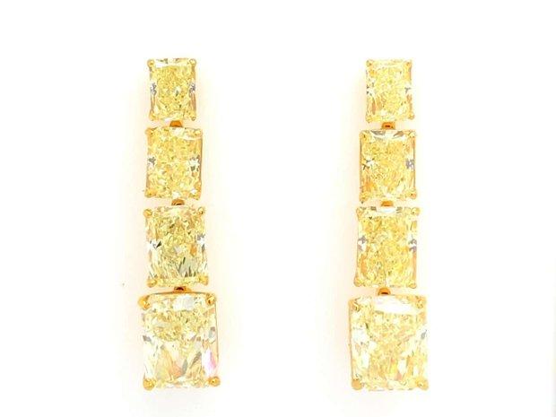 24.51 Carats Of GIA Certified Canary Yellow Diamond Earrings (11545520)