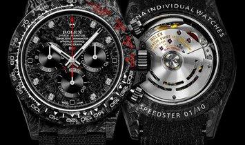 "Rolex DiW NTPT Carbon Daytona ""SPEEDSTER DIAMOND INDEX"" (Retail:US$54,500)"