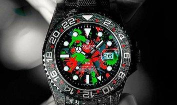 "Rolex DiW NTPT Carbon GMT-Master II ""MOTLEY GMT"" (Retail:EUR 37490)"
