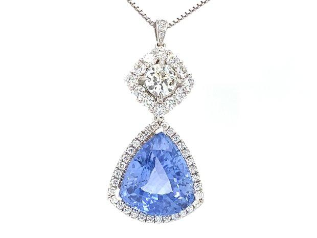 GIA Certified 10.50 Carat Sapphire Pendant Necklace (11548846)