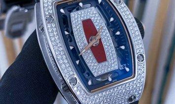 Richard Mille RM 07-01 White Gold Full Set Diamonds Jasper Dial