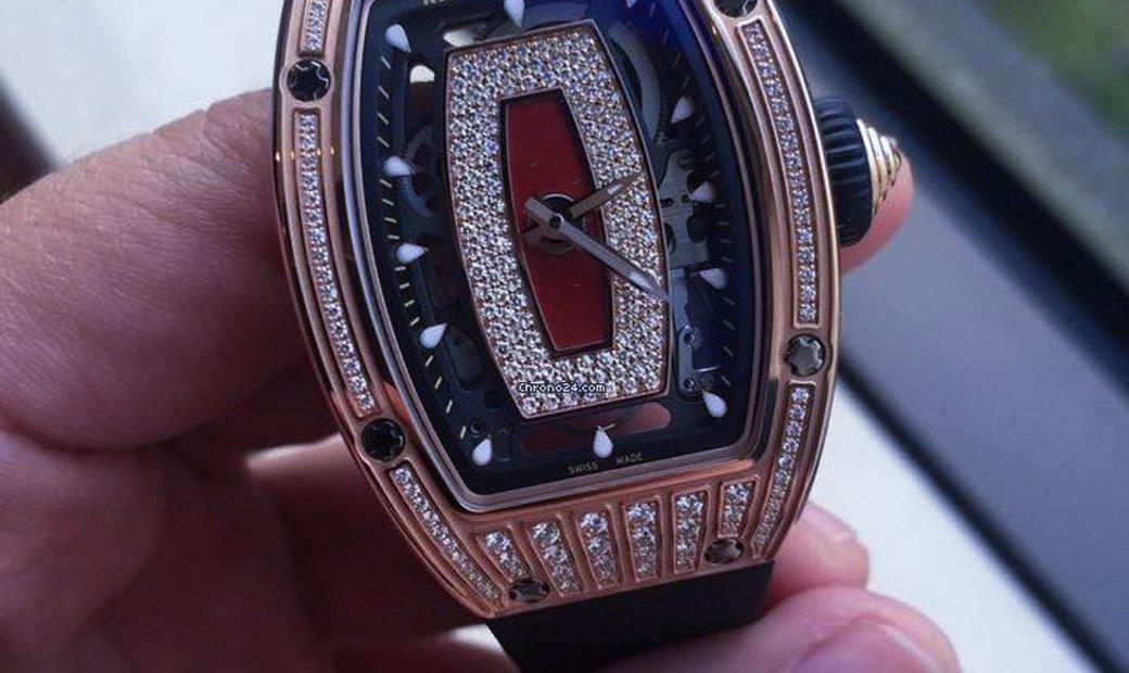 Richard Mille [NEW] RM 07-01 Rose Gold Med Set Diamonds Watch