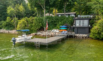 Privé-eiland in Orillia, Ontario, Canada 1