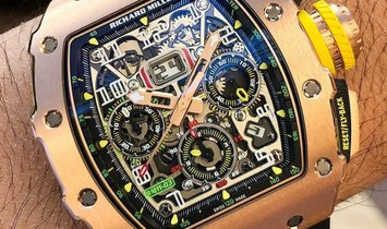 Richard Mille [NEW] RM 11-03 FULL Rose Gold Automatic Flyback Chronograph