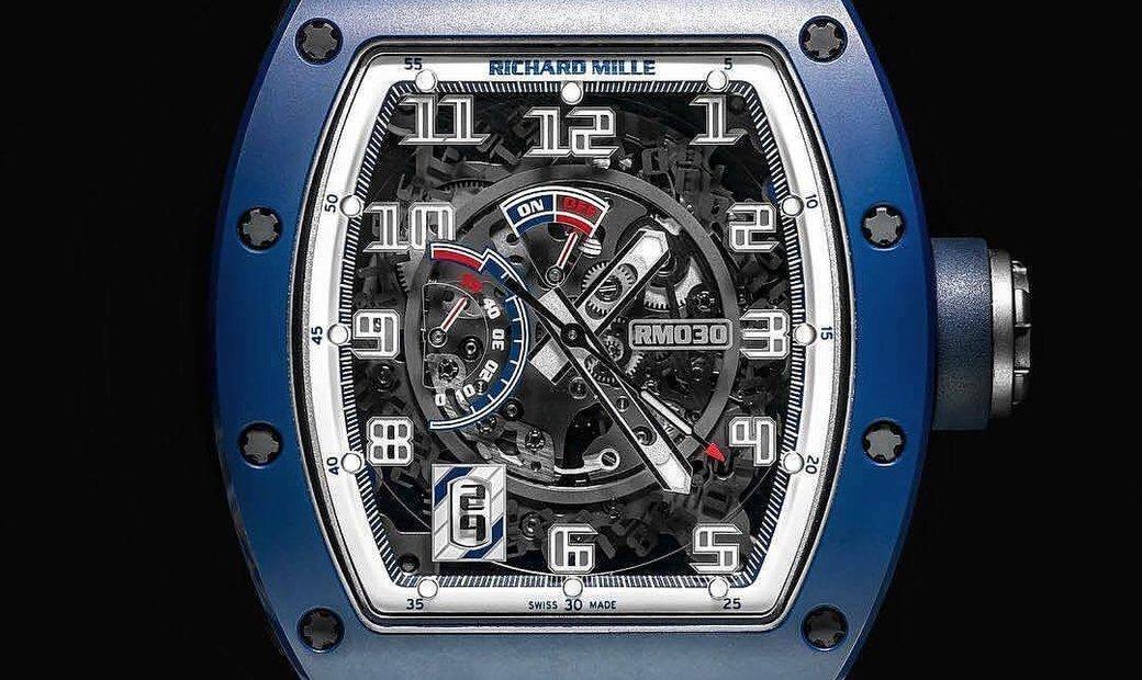 Richard Mille [LIMITED 100 PIECE] RM 030 Blue Ceramic EMEA