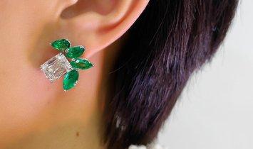 White Diamond Earrings, 6.03 Ct. (10.09 Ct. TW), Cushion shape, GIA Certified, JCEW05505622