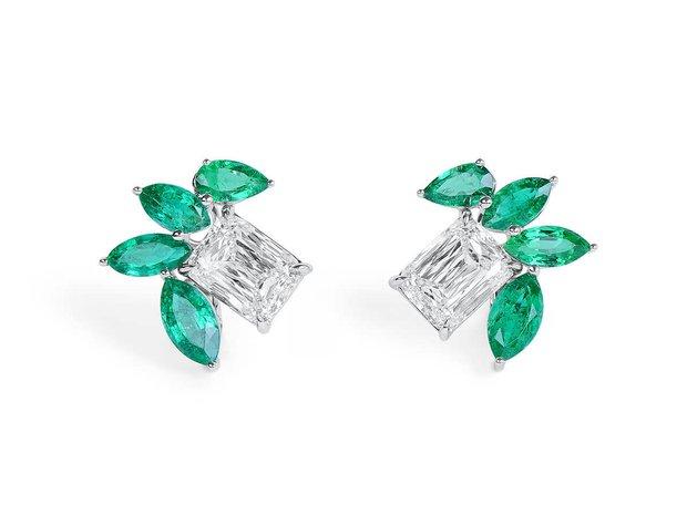 White Diamond Earrings, 6.03 Ct. (10.09 Ct. TW), Cushion ... (11573813)