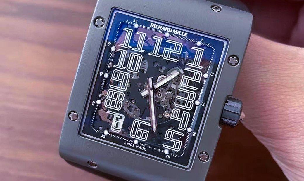 Richard Mille RM 016 Extra Flat Titanium Black Watch
