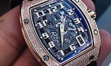 Richard Mille [NEW] RM 67-01 Rose Gold Full Set Diamonds Extra Flat