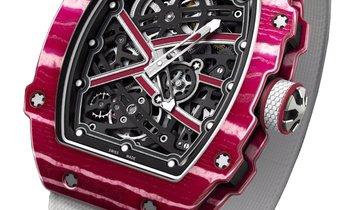 "Richard Mille Pre-owned High Jump ""Mutaz Essa Barshim"" Automatic Men's Watch RM67-02CA-FQ"