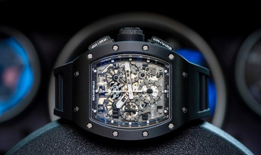 """Richard Mille Pre-Owned RM011 Felipe Massa """"Black Phantom"""" Flyback Chronograph Men's Watch"""