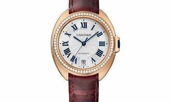 Cartier Cle' De Cartier Automatic Rose Gold Diamonds Silver WJCL0013