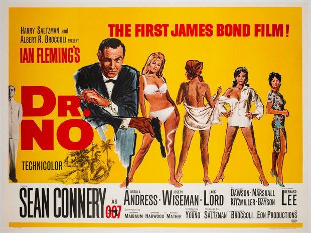 Dr No - Rare original UK quad poster, 1965 & the first ed... (11615579)